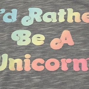 Modern Lux Tops - 🦄🦄 Modern Lux Size Large Rather Be A Unicorn Tee